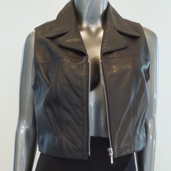 BB Dakota Jackets & Blazers - B B Dakota Black Leather Vest Medium